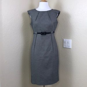 Calvin Klein | Sleeveless Office Dress w Belt 6
